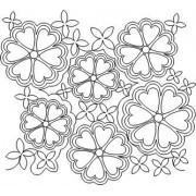 Heart Flowers Quilting Pattern