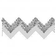 Zig Zag Swirl Line 01 Pattern