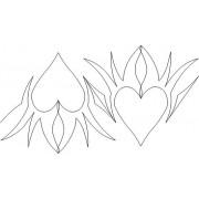 Flaming Hearts Pattern