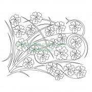 Cherry Blossom Grass 001 Pattern
