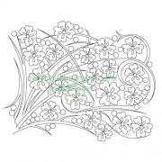 Cherry Blossom Grass 002 Pattern