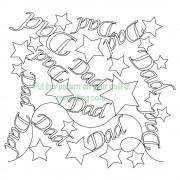 Dad Stars Pattern