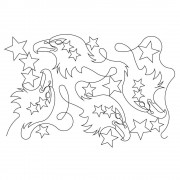 Eagle and Stars Pattern