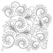 Flower Leaf Swirl 02 Pattern
