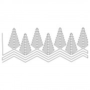 Modern Christmas Trees 01 Pattern