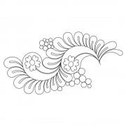 Paisley Feather Pano 04 Pattern