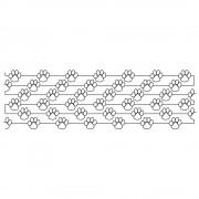 Modern Paw Line 01 Pattern