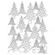 Pine Tree Pano Sq Pattern