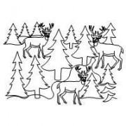 Deer in the Trees 2 Spec Pattern
