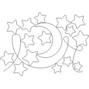 Baby Stars and Moon Pattern