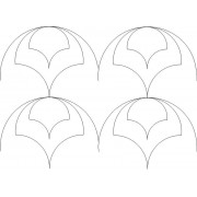 Clamshell Dome Rows Pattern