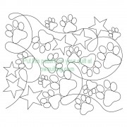 Dog Paw Star Pattern