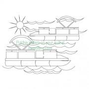 Pontoon Boats Pattern