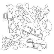 Truck and Motorcycle Pattern