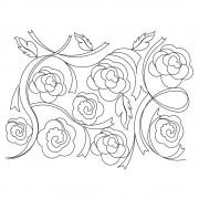 Ribbon Roses 01 Pano Pattern
