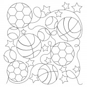 Bballs Soccer Baseball 01 Pattern