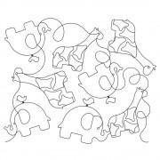 Elephant Giraffe Pano 01 Pattern