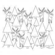 Reindeer in Trees 01 Pattern
