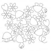 Turtle Heart Flower Pattern