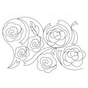Ribbon Roses Pano 01 Pattern