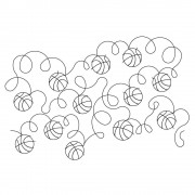 Bouncing Basketballs Pano Pattern