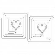 Double Heart Swirl Pano