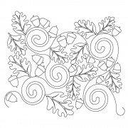 Acorn Leaf 01 Pattern