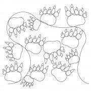 Bear Paw Pano Pattern